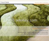 Custom made modern design 3d viscose silk carpet