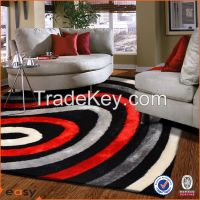 Luxury handmade polyester 3d carpet in China