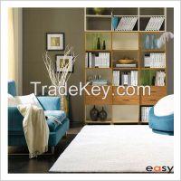 Pure white worm bedroom microfiber shaggy carpets