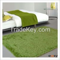 Plush plain green home floor rugs in perfect structure