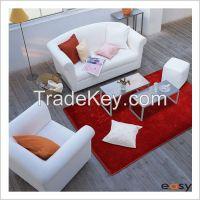 Blue block modern design teppich shag rug