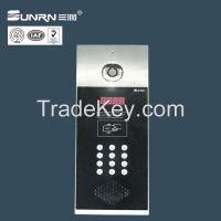 Electronic and magnetic door lock building door phone video unlocking