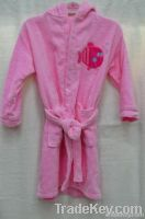 Yiwu pink kids cheap bathrobe