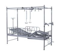 Four Department of orthopedics beds stainless steel rolling