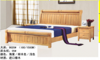 Beech solid wood bed in bedroom furniture European style bed Furniture sets