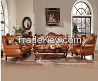 Living room furniture leather sofa set combinet unit american style stock 20141023-98