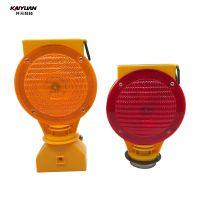 Factory price solar led yellow flashing traffic light for safety warning