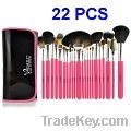 22 PCS Professional Black Package Make up Brush Set