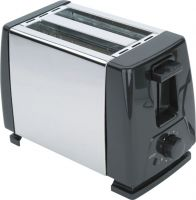 2 slice stainless steel hot sale toaster