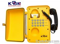 IP66 / IP67 Weatherproof Telephone For Metro , Light Railroad