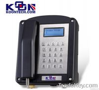 Black LCD Explosion Proof Telephone Waterproof IP66 With Full Or Half