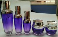 color gradient glass cosmetic bottle