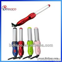2014 mini ceramic hot curlers with rubber hand hot hair curler