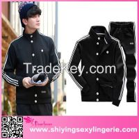 wholesale Casual mens Baseball Buttoned Sportswear hoodies