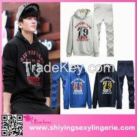 Male Hooded Korean printed hoodies Tracksuit