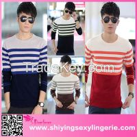 man Winter Pullover O-neck Fashion Jasper Striped sweater