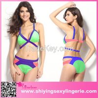 sexy Strappy Cutout Bikini swimwear for mature women