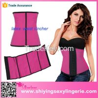 cheap sexy 9 Steel Bones Latex Under Bust slimming corset