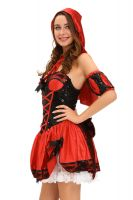 2016 wholesale 4pcs Miss Red Riding Hood sex cosplay costume