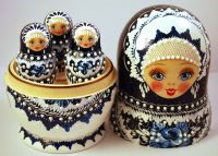 Beautiful set of 13 Russian Wooden Nesting Dolls (Matryoshkas)