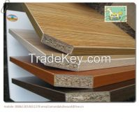melamine particle board and plain particle board