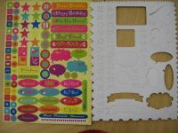 Scrapbook Sticker and Stencil