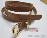 Tan colour PU &gold buckle belts