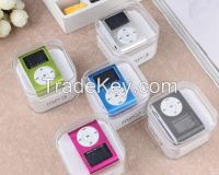 5 Colors Mini Clip Mp3 Player With Screen