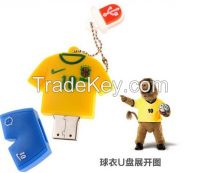 World Cup jerseys U disk Cartoon U disk creative jersey model