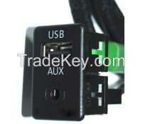 USB + AUX Switch Plug Panel For VW Passat B6 Volkswagen Passat