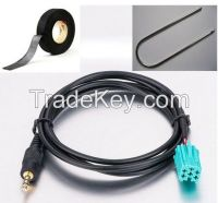 3.5mm MP3 Aux Cable Input Audio Cable Adapter