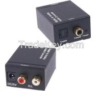 Digital Optical Toslink or SPDIF Coax to Analog L/R RCA Converters