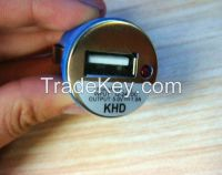 Mini 2A/1A 2 Dual Port Car Auto USB Charger Adapter