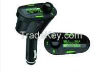 Car Kit Audio Socket In-Car Green LCD FM Transmitter Radio Modulator