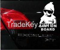 Cool Baby on Board Car Sticker  Decal Children