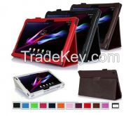 PU Leather Case Stand Magnetic Folio Cover