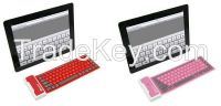 Folding Waterproof Wireless Bluetooth Soft Silicone Keyboard