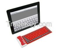 Roll Folding Silicone Wireless Flexible Bluetooth Mini Keyboard