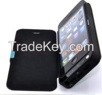 4200mAh Power Bank Battery Backup Charger Case +Stand +Leather Cover