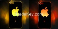 Luminescent logo Flash LED Light luminous case cover For iPhone 5
