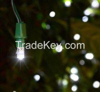 White Solar Power 100 LED String Light Strip