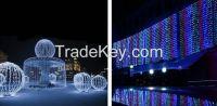 LED Curtain Icicle String Lights 1000 LEDs 10*3M