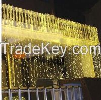 6M X 3M 600 LED Icicle Curtain Lights Indoor Outdoor