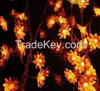 Flower LED String Light 10M 80pcs Lotus LED Lighting