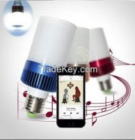 E27 LED Bluetooth Speaker Wireless LED Lamp