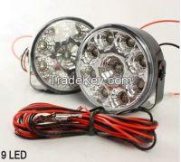 12V/24V 9 LED Work Lights Lamp DRL High Power 6000K Road Off SUV Truck