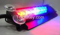 New 8-LED Emergency Vehicle Warning Strobe Flash Light Red & Blue