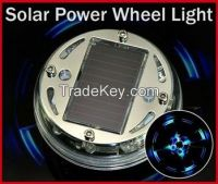 Auto Colorful RGB Waterproof flash Glare Car Solar Power energy Light