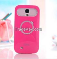 New Dual Color iglow Hard Soft Hybrid Back Stand Case Cover