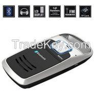 Solar Powered Bluetooth Handsfree Car Kit LCD Display FM